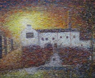 Chris Quinlan Artwork kilbeggan distillery, 2017 Oil Painting, Impressionism