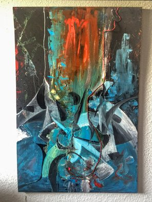 Quintensiaga Oil Gallery Artwork ravage, 2017 Oil Painting, Abstract
