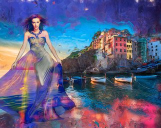 David Smith Artwork Lady of the sea, 2014 Digital Painting, Glamor