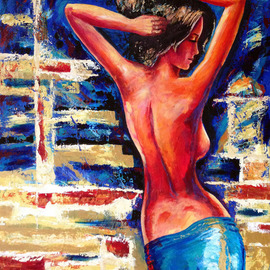 David Smith: 'Spanish Nude', 2013 Acrylic Painting, Glamor. Artist Description:  Woman, lady, beautiful, glamour, model, dancing,joy, love, spanish.      ...