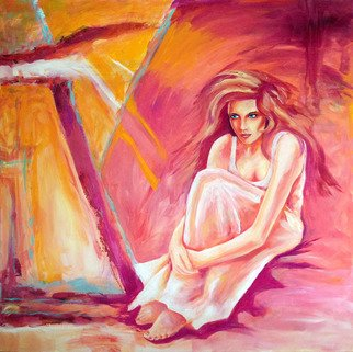 David Smith Artwork Woman in the pink, 2013 Acrylic Painting, Glamor