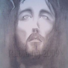 Marilyn Manson Artwork Jesus Christ, 2009 Charcoal Drawing, Beauty