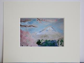 Rachel J  Ando: 'Fuji San ', 2013 Oil Painting, Mountains.