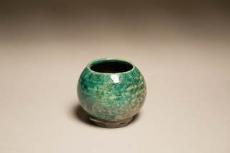 Rachel Oswalt: 'raku fired cup', 2018 Wheel Ceramics, .
