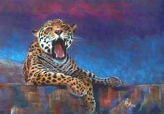 Rae Marie  'Mayan Yawn', created in 2001, Original Painting Oil.