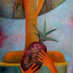 girl with pineapple By Rafail Aliyev