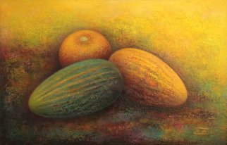 Rafail Aliyev: 'melons', 2018 Oil Painting, Still Life. Artist Description: Absheron melons...
