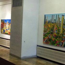 art exhibition naive  By Raphael Perez  Israeli Painter