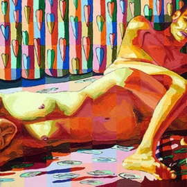 erotic male female nude on bed naked couple painting erotic man woman