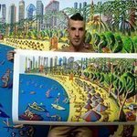 folk artist painters naife art By Raphael Perez  Israeli Painter