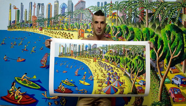 Raphael Perez  Israeli Painter   'Folk Artist Painters Naife Art', created in 2017, Original Photography Color.