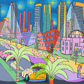Raphael Perez  Israeli Painter : 'folk painter naive artist', 2017 Acrylic Painting, Landscape. Artist Description: folk painter naive artist naife paintings landscape artworks painting ...