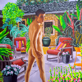 Gay Art Paintings Queer, Raphael Perez  Israeli Painter