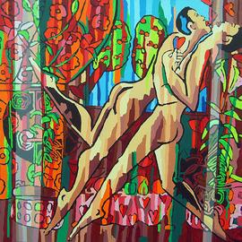 Gay Art Queer Paintings, Raphael Perez  Israeli Painter