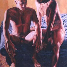 gay couple love and relationship painting homoerotic artwork homosexual art