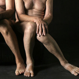 gay older couple 2 adult men modeling homosexual art photo