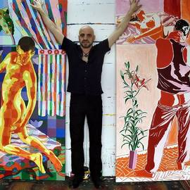gay painter homosexual artist By Raphael Perez  Israeli Painter