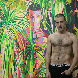 Gay Painter Queer Artist, Raphael Perez  Israeli Painter