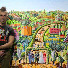 Raphael Perez  Israeli Painter : 'israeli painter raphael perez', 2018 Acrylic Painting, Landscape. Artist Description: israeli painter raphael perez artist naive artworks paintings ...