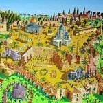 jerusalem painting art By Raphael Perez  Israeli Painter