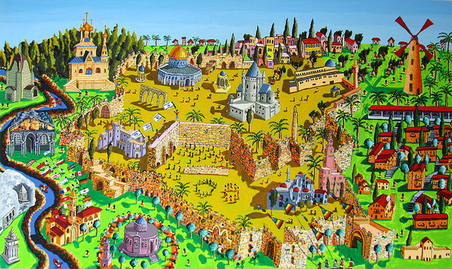 Raphael Perez  Israeli Painter   'Jerusalem Painting Art', created in 2017, Original Photography Color.