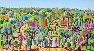Raphael Perez  Israeli Painter : 'jewish art painting', 2019 Acrylic Painting, Landscape. jewish art paintings Paintings of the Religious Jew World Rabbis pray in synagogues jews wedding art by raphael perez ...