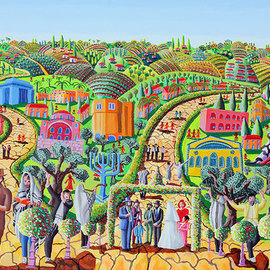 Jewish Art Painting, Raphael Perez  Israeli Painter