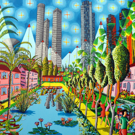 landscape naive paintings