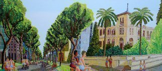 Raphael Perez  Israeli Painter : 'landscape urban painter', 2017 Acrylic Painting, Landscape. landscape urban painter ...
