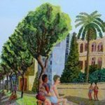 landscape urban painter By Raphael Perez  Israeli Painter