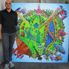london city painting uk landmarks famous sites place paintings