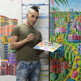 naive artist naife painter  By Raphael Perez  Israeli Painter