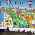 naive artists naife painters By Raphael Perez  Israeli Painter