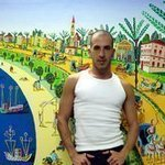 naive painter folk artist By Raphael Perez  Israeli Painter