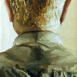 older man portrait from the back male art painting