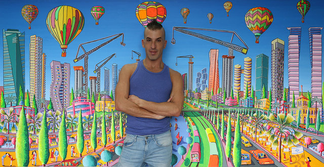 Raphael Perez  Israeli Painter   'Skyscrapers Tall Buildings', created in 2017, Original Photography Color.