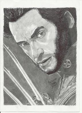 Abdul Rahman Umar: 'Wolverine', 2013 Pencil Drawing, Movies. Artist Description:   Pen and Pencil drawing of wolverine from the X- Men movie. .  ...