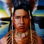 ojibwe warrior By Ralph Megginson