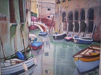 Ramona Marquez Ramraj: 'A Little Window Through Venecia', 2008 Acrylic Painting, Marine.