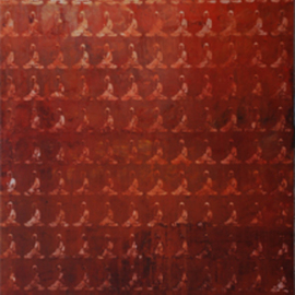 Ram Thorat: 'Chanting Preaching Buddhas', 2011 Acrylic Painting, Spiritual. Artist Description:  Indian contemporary art spiritual art Chanting Preaching Buddha painting on Buddhism                 ...