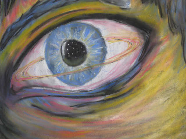 Randy King  'Looking Into Space', created in 2009, Original Pastel.
