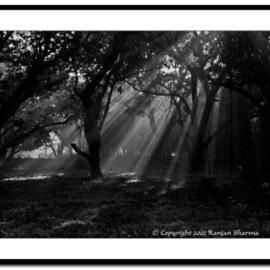 Ranjan Sharma: 'Ray of hope', 2006 Black and White Photograph, Landscape.