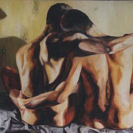 Rafi Perez: 'gay paintings homosexual art nude male painting naked men artworks', 2016 Acrylic Painting, nudes. Artist Description:   gay paintings homosexual art nude male painting naked men artworks homoerotic painter       ...