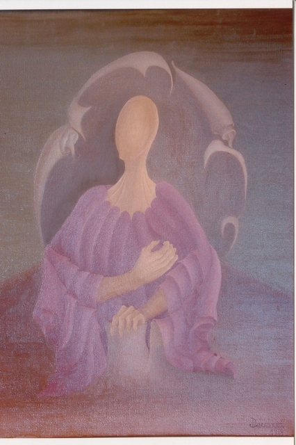 Raquel Davidovici  'A Su Tiempo', created in 1978, Original Painting Oil.