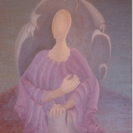 Raquel Davidovici Artwork A su tiempo, 1978 Oil Painting, Surrealism