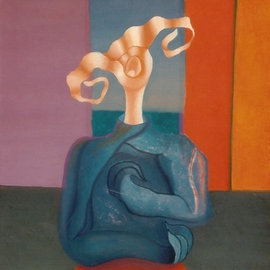 Raquel Davidovici: 'Atada', 1986 Oil Painting, Surrealism.