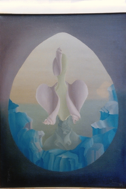 Raquel Davidovici  'On The  Begining', created in 1978, Original Painting Oil.