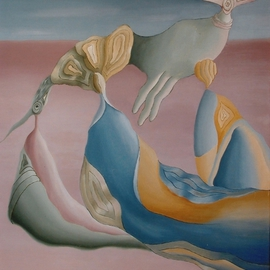 Raquel Davidovici Artwork circulante, 1987 Oil Painting, Surrealism