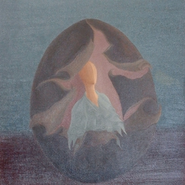 Raquel Davidovici Artwork hacia la luz, 1972 Oil Painting, Surrealism