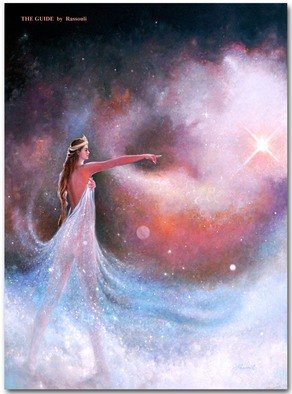 Freydoon Rassouli: 'the guide', 2008 Oil Painting, Fantasy. Artist Description: A cosmic Ethereal, figurative space painting in Representational form by Freydoon Rassouli ...